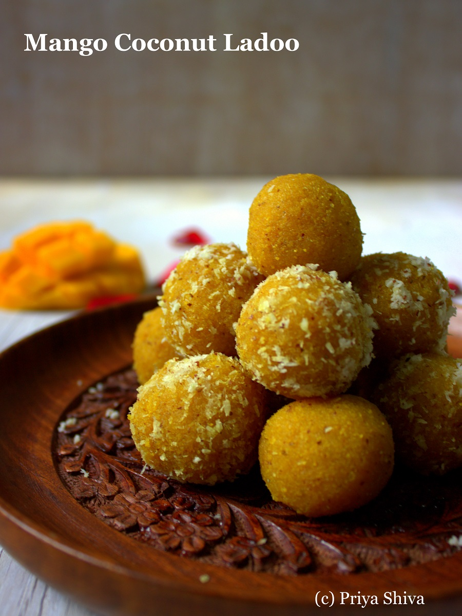 how to make Mango Coconut ladoo