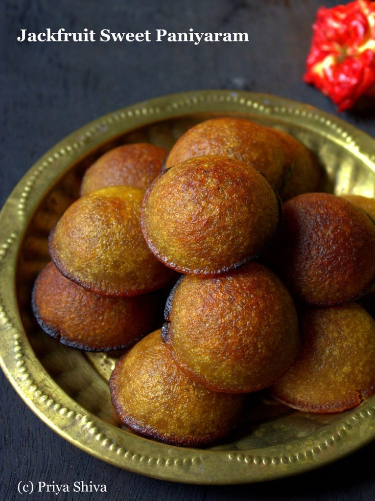 Chakka Nei Appam / Jackfruit Sweet Paniyaram