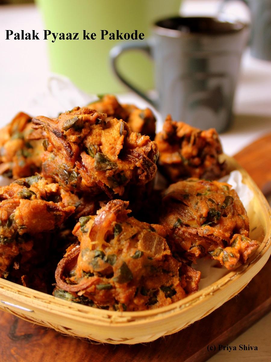 5 Indian Style Vegan Recipes Created By Award Winning Priya Shiva-palak pyaaz ke pakode recipe