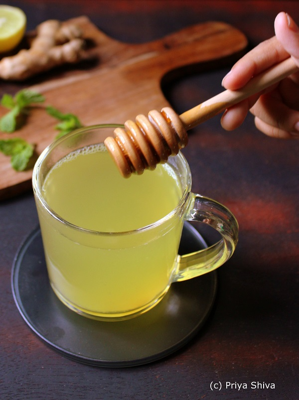 Lemon Ginger Honey Tea recipe