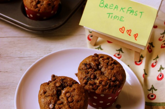 Eggless Coffee Chocolate Chip Muffin