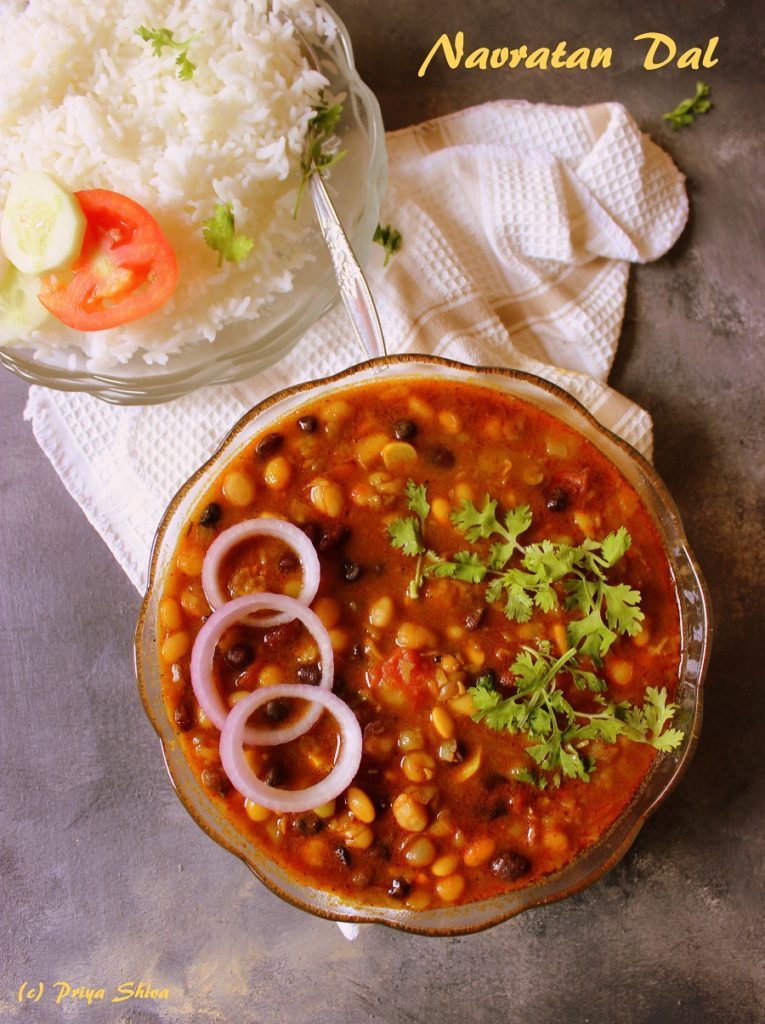 Navratna Dal – Mixed Dal Recipe