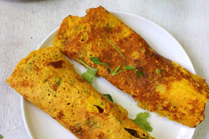 Besan Ka Cheela – Chickpeas Flour Crepes