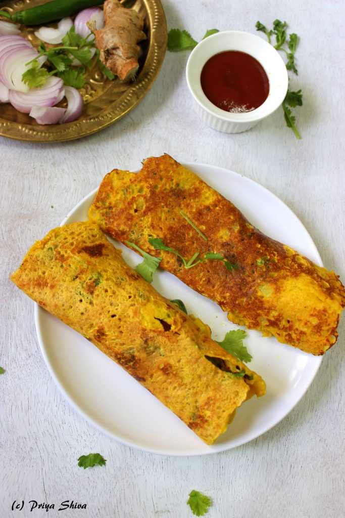 Besan Ka Cheela – Chickpeas Flour Crepes