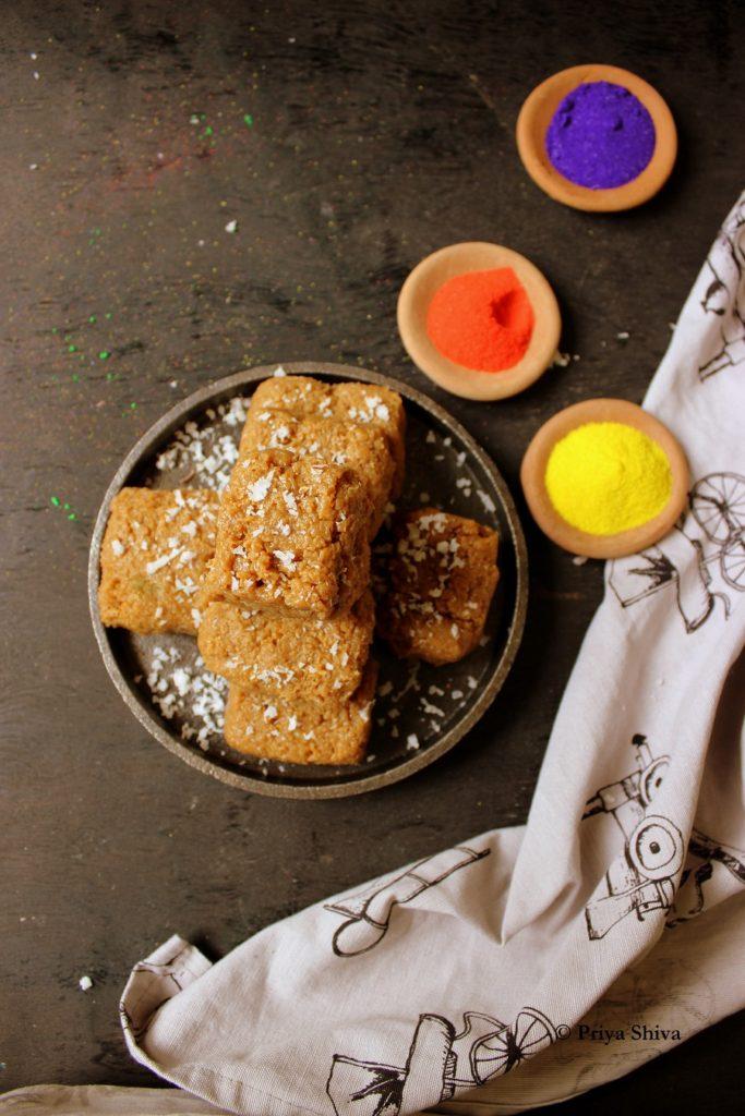 Dulce De Leche Coconut Burfi Recipe