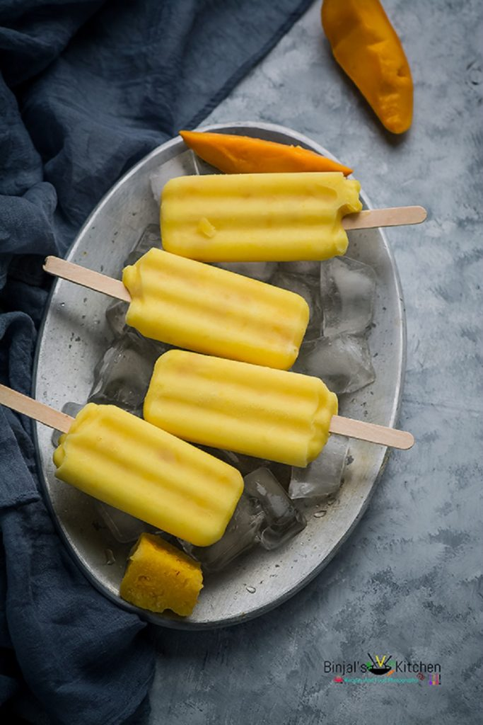 Mango Pineapple Smoothie Popsicle – Guest Post By Binjal