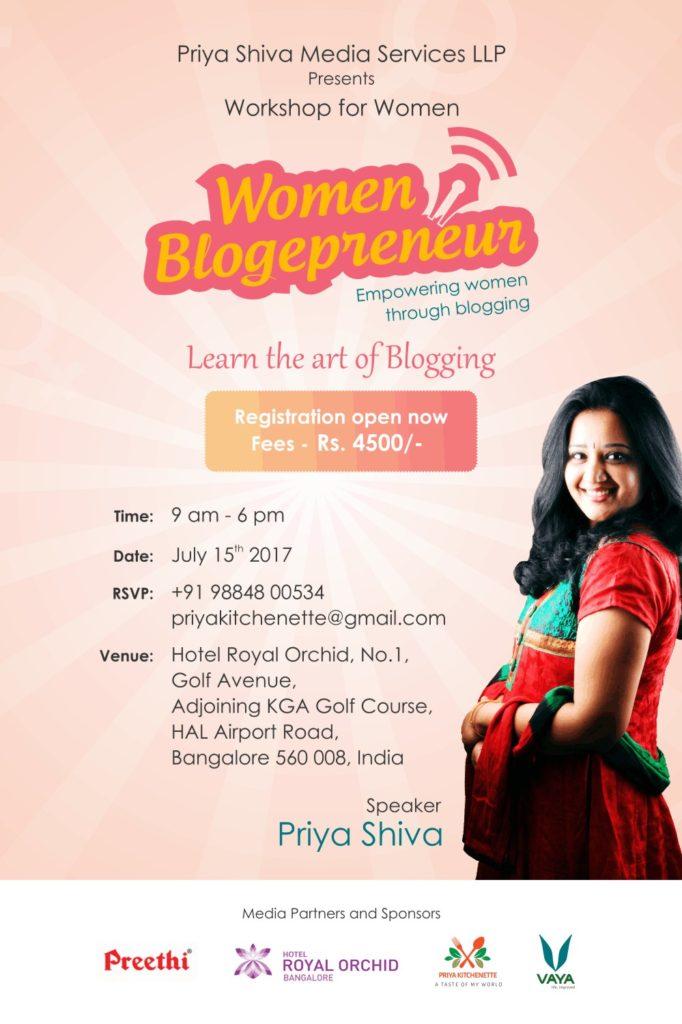 Blogging Workshop – Women Blogepreneur