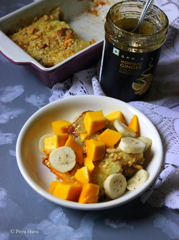 Ginger marmalade bread and butter pudding recipe