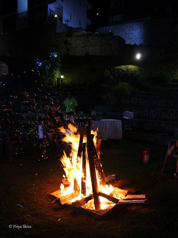 bonfire party at kodaikanal