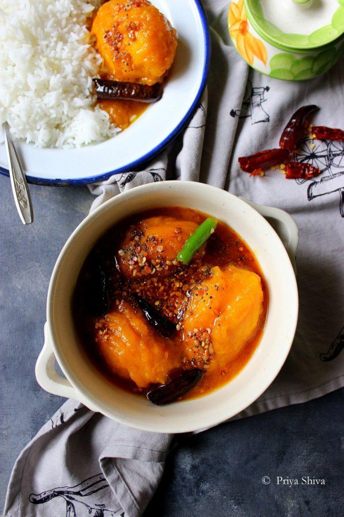Ambe Upkari – Karnataka Style Ripe Mango Curry Recipe