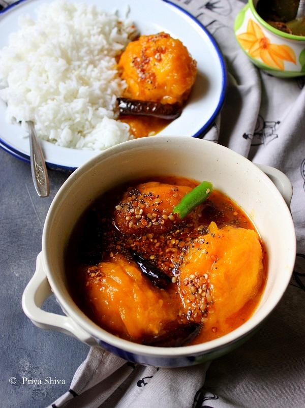 Maavina Hannina Gojju - Karnataka Style Ripe Mango Curry Recipe