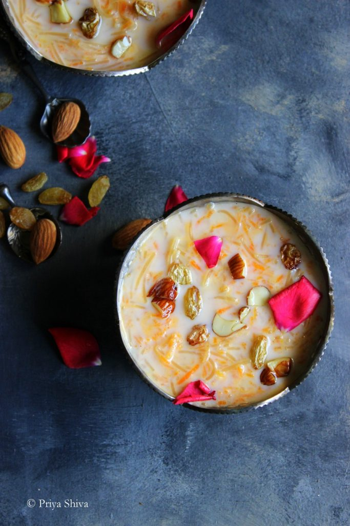 Carrot Semiya Payasam Recipe