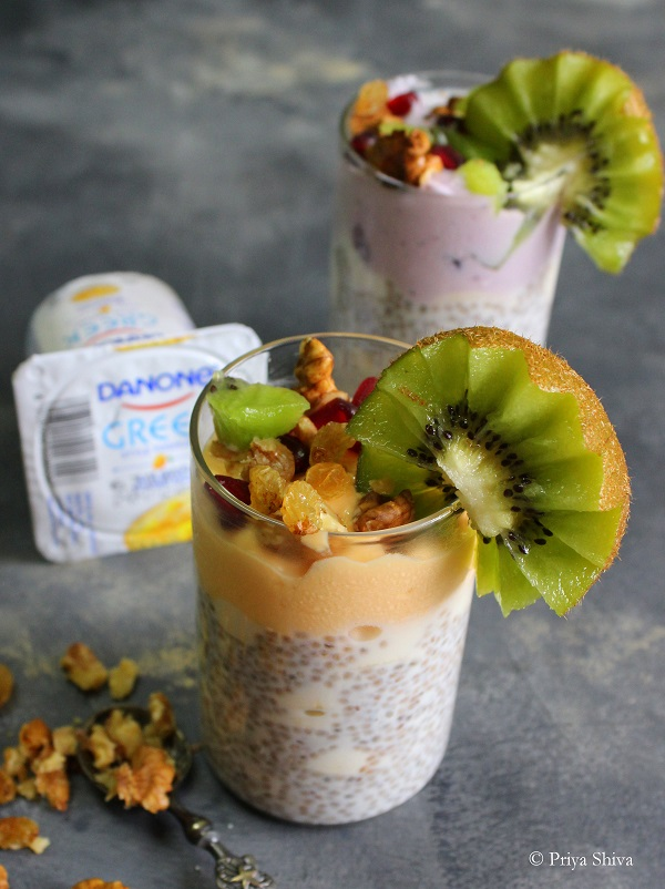 Danone Yogurt Chia Seed Fruit Parfait recipe