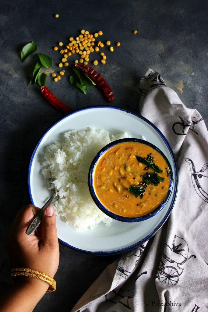 Avarekalu Huli Saru – Karnataka Style Field Beans Curry