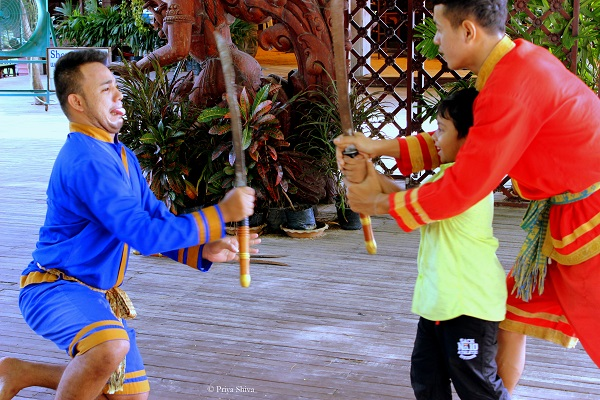 ceremonial Thai sword dance