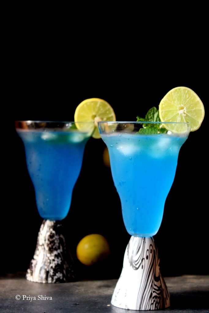 Blue Lagoon Cocktail in Nani Firangi Glass