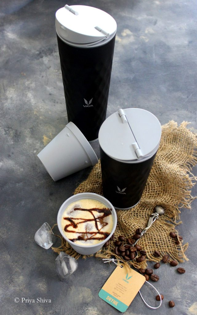 Cold Coffee Milkshake In Vaya Drynk Thermo Flask